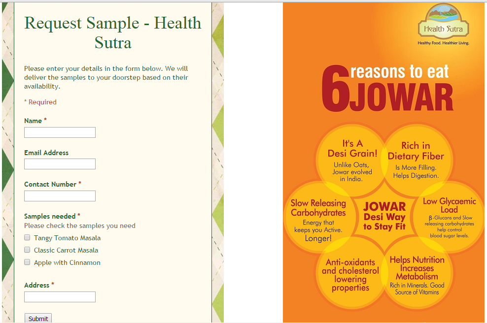 free sample of health sutra