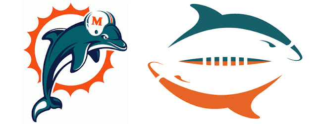official Miami Dolphons and redesigned logo