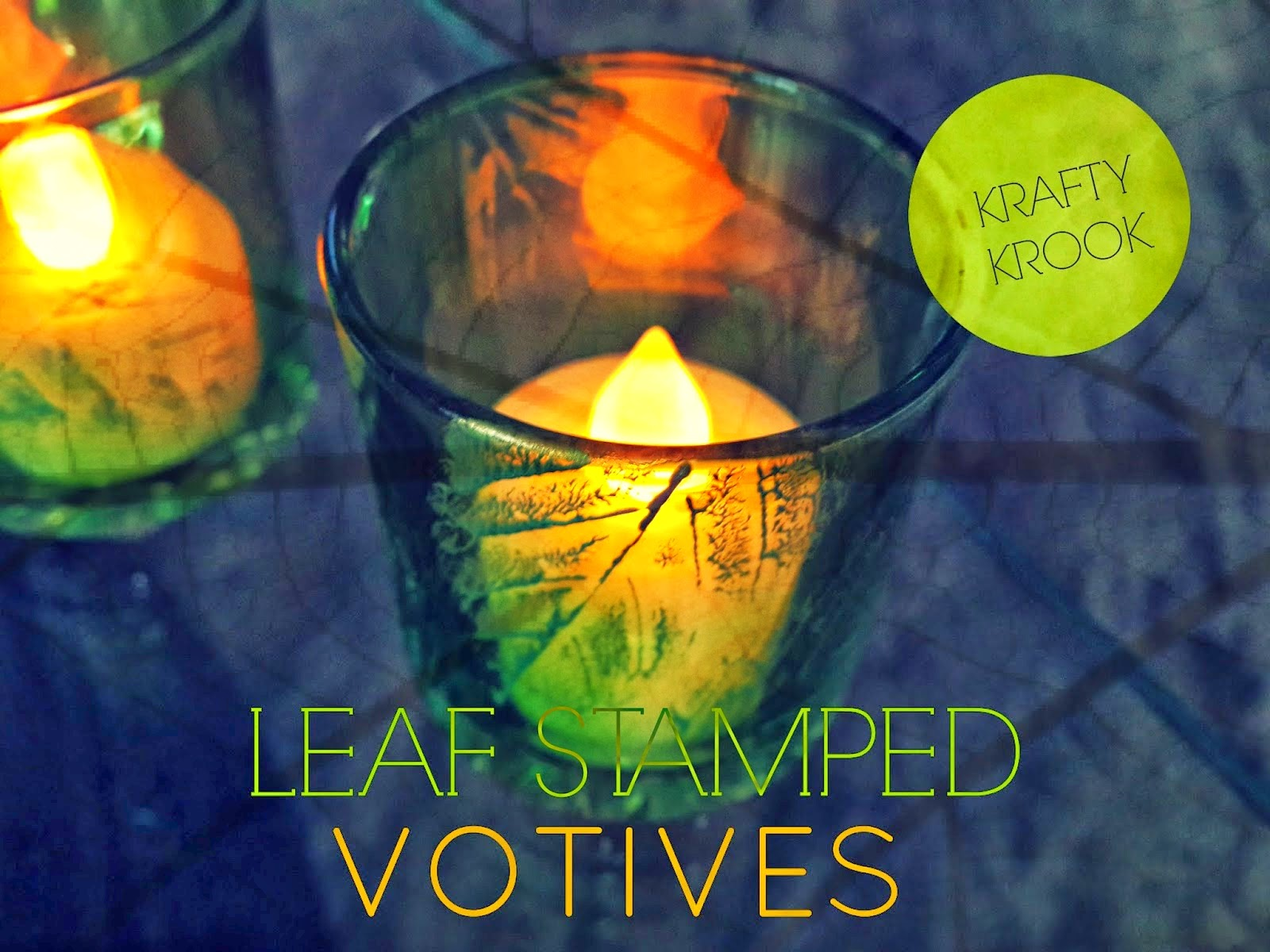 Leaf Stamped Votives