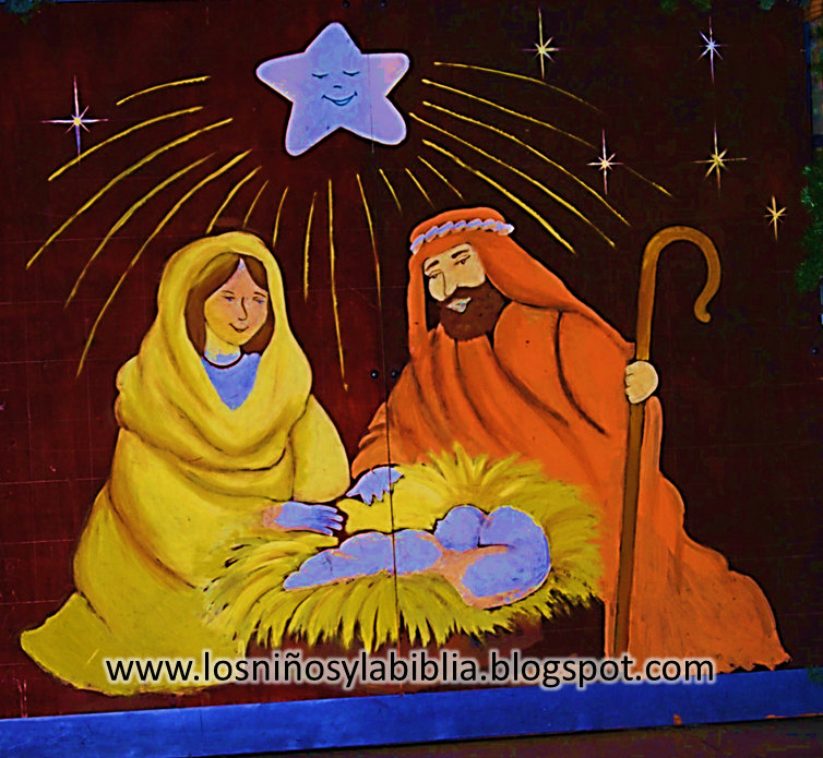 Los ni os y la biblia mural para navidad - Mural navidad infantil ...