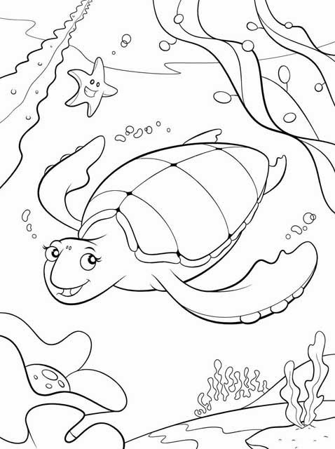 Kids page sea turtle coloring pages printable sea for Sea turtles coloring pages
