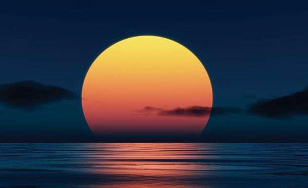 заход солнца