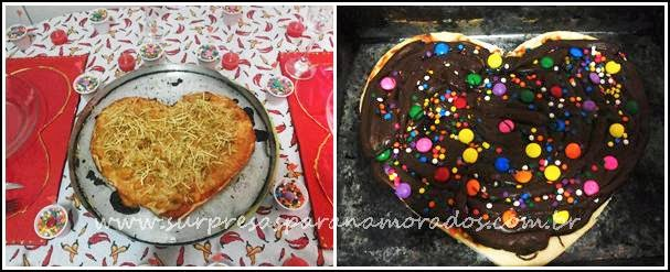 pizza romântica para o dia da pizza