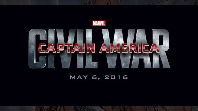 Logo and title card for Captain America: Civil War May 6, 2016