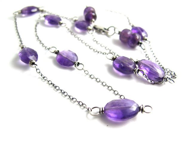 amethyst necklace jewelry sterling silver