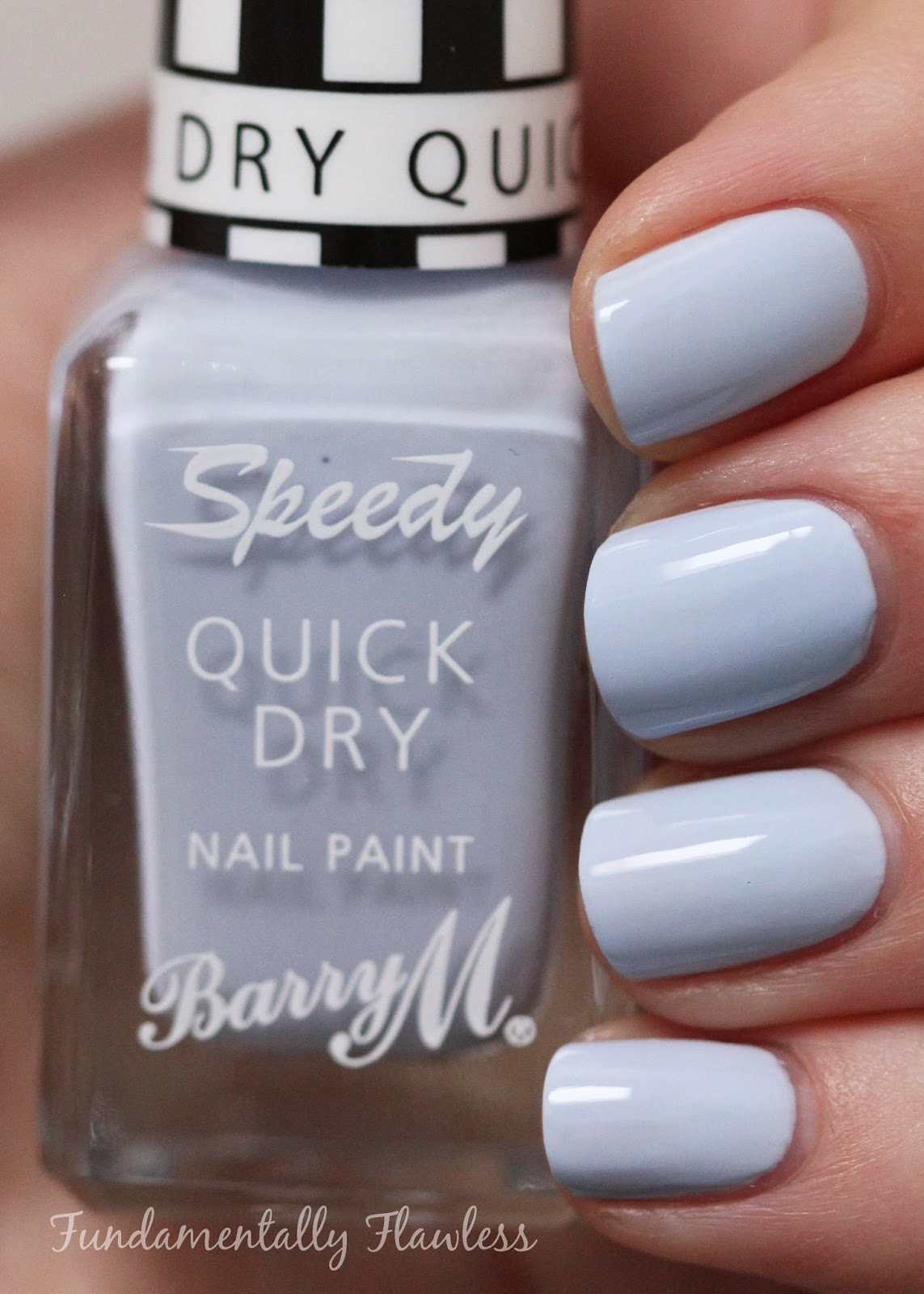 Barry M Eat My Dust speedy dry swatch - pastel blue