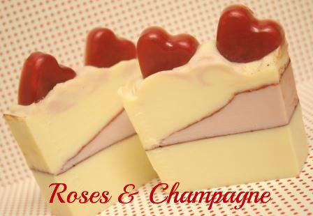 I D Lather Be Soaping Valentine S Day Soap Roses And Champagne