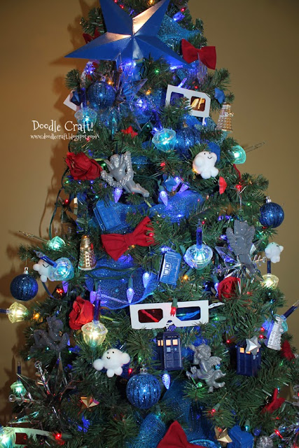 doodlecraft doctor who inspired christmas tree. Black Bedroom Furniture Sets. Home Design Ideas