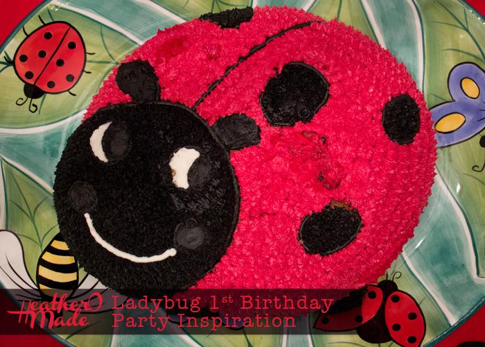 Ladybug 1st Birthday Party Inspiration. ladybug cake