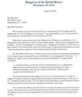 اوباما يتلقي توبيخا من الكونجرس الأمريكي بسبب تدخله في سوريا