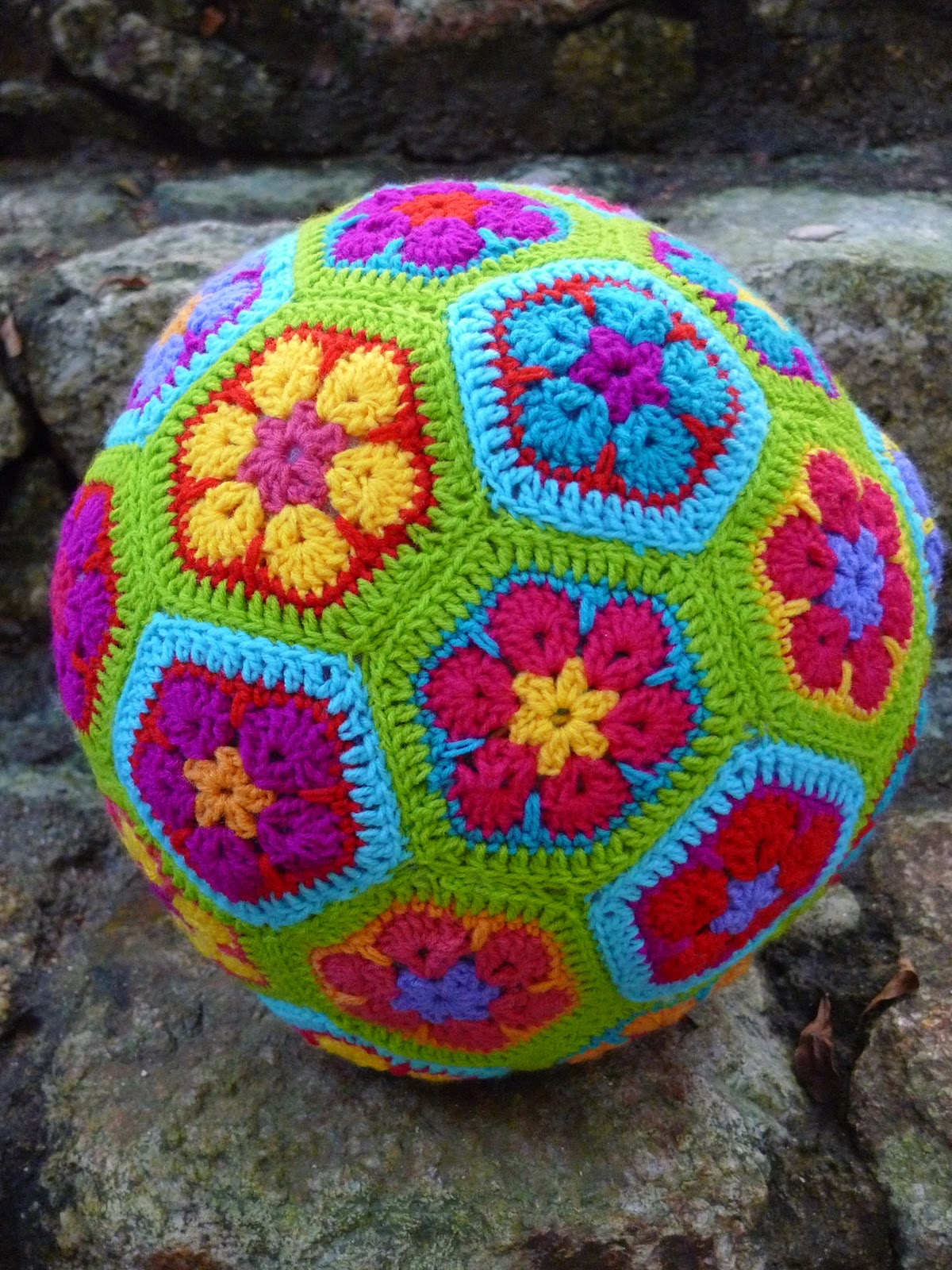 pigtails: Hexagon & Granny\'s Soccer Ball Cushion and Handbag