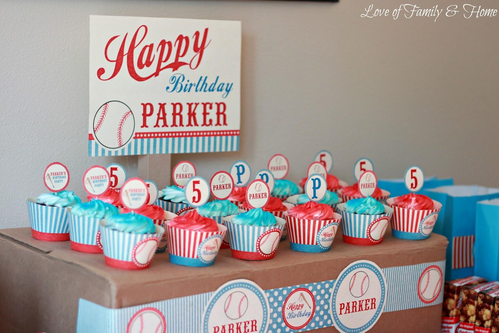 Diy Baseball Themed Birthday Party Love Of Family Amp Home