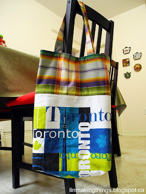 tea towel, tote bag, DIY, tutorial, upcycle, repurpose, linmakingthings