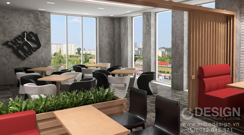Thiết kế nội thất quán cafe Teria
