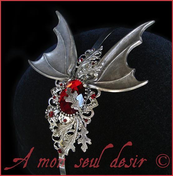 Vampire Serre Tête Dracula Vampirella Bijouterie