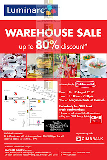 Luminarc Warehouse Sale 2012