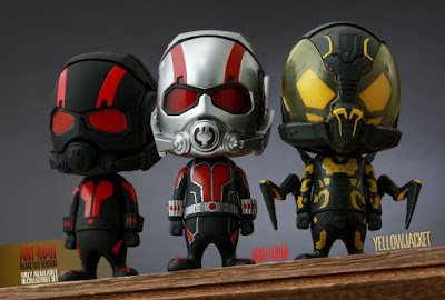 "Marvel's Ant-Man CosBaby Vinyl Figure Series by Hot Toys - ""Black Out"" Ant-Man, Ant-Man & Yellowjacket"