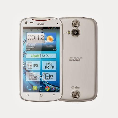Acer liquid E2 duo Blanc comparatif smartphone
