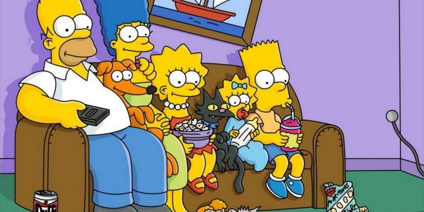 Les Simpson dans leur canapé