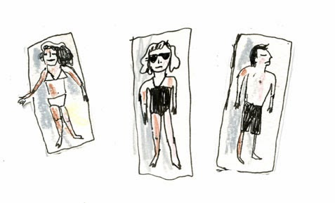 Beach People Illustration by Elizabeth Graeber
