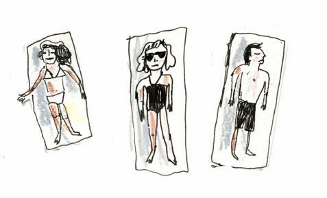 Beach People Illustration by Elizabeth Graeber