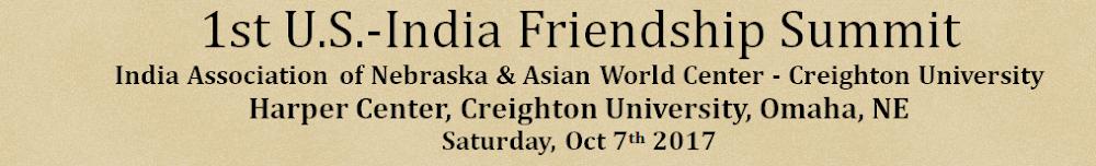 1.st U.S.- India Friendship Summit