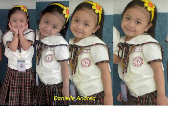 Danie in her 1st school uniform: Kinder 1