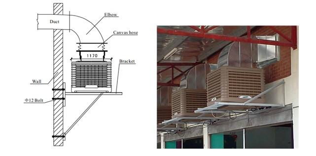 a top discharge - Evaporative Air Cooler