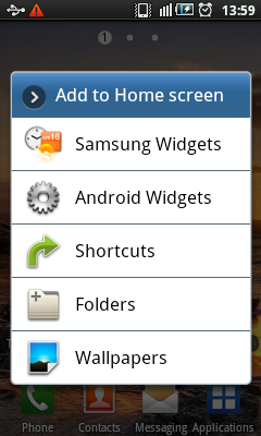 Android Widgets - Add to Home Screen
