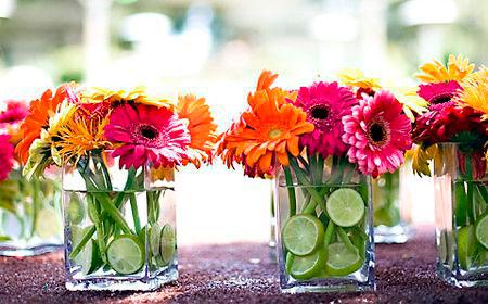 Hazlo t misma centros de mesa con margaritas artes - Centros de mesa con limones ...