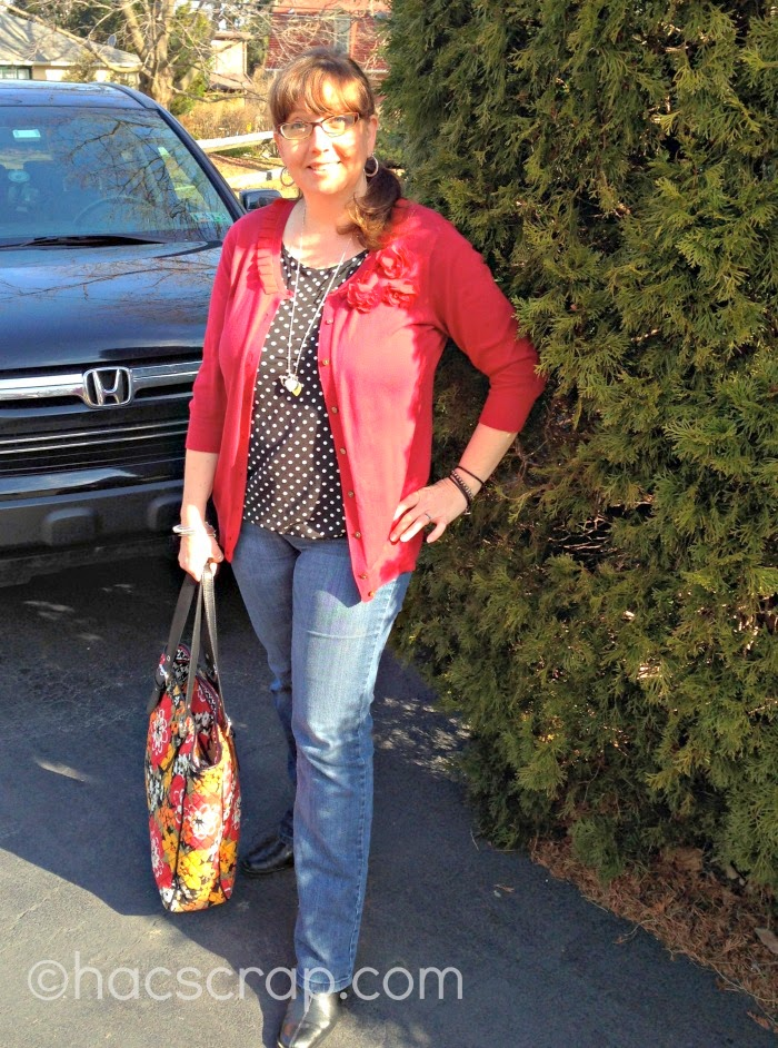 #OOTD - Blouse, Cardi, Jeans, Boots, Tote Bag