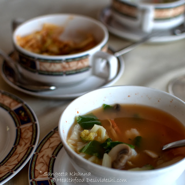 ways to make the best seafood soups and a lovely seafood meal at Le Belvedere, Le Meridien..
