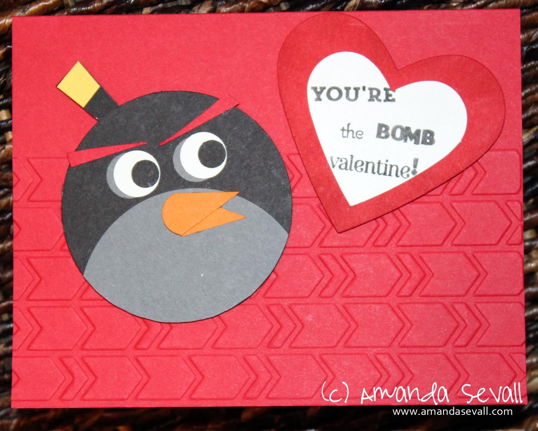 Amanda Sevall Designs 365 Cards Youre the Bomb Valentine – Nephew Valentine Cards