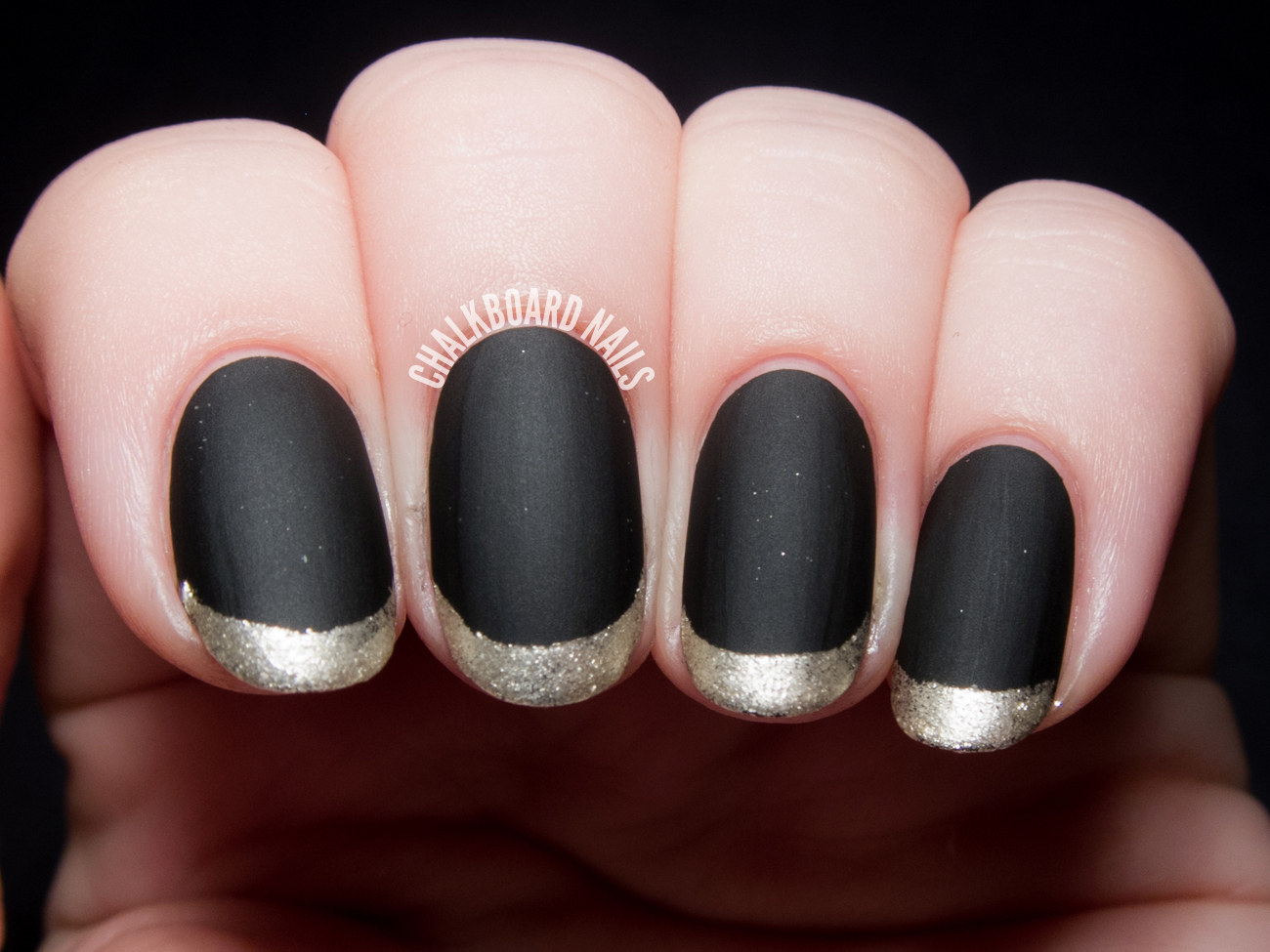 Watch How to Do Metallic French Tips video