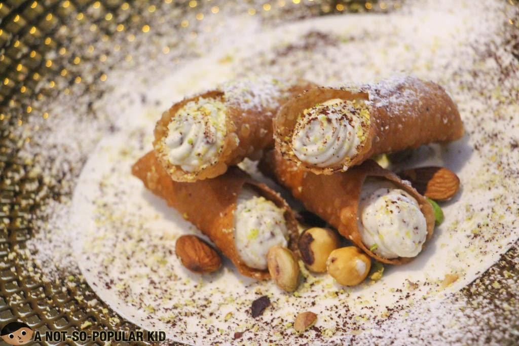 Authentic Italian dessert called Cannoli of Il Ponticello