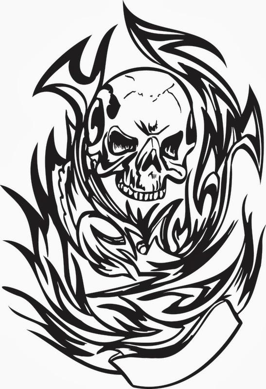 картинки татуировка череп