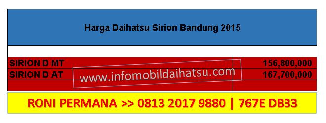 HARGA DAIHATSU SIRION BANDUNG 2015, DAIHATSU BANDUNG 081320179880, HARGA SIRION 2015