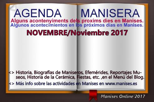 AGENDA MANISERA, NOVEMBRE 2017