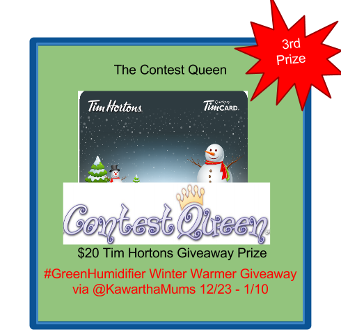 image Giveaway Prize - $20 Tim Hortons Card from Contest Queen