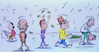 Caricatura de delincuentes del gobierno