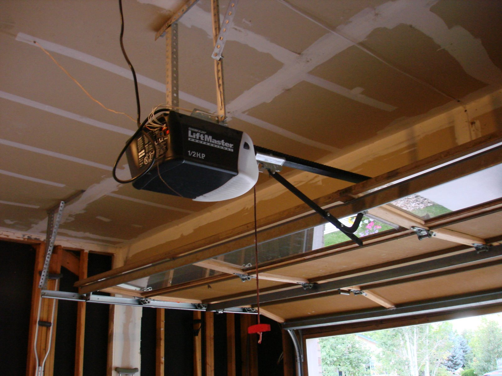 Installing A New Garage Door Opener At New Location Garage Door