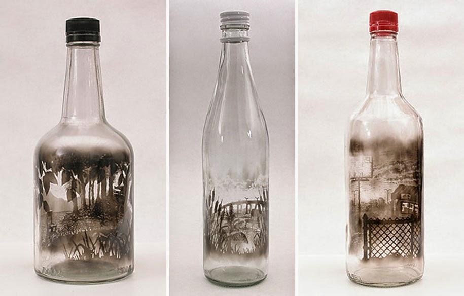 smoke bottle artwork