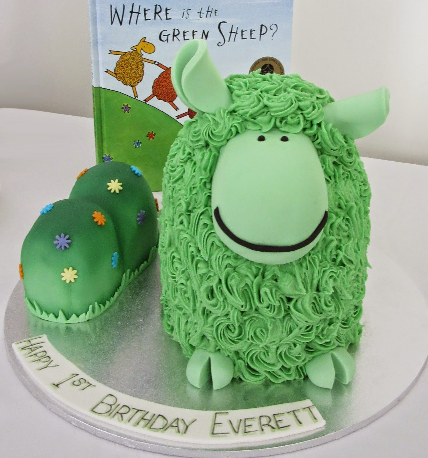 Nadas Cakes 3d Green Sheep Birthday Cake By Nadas Cakes Canberra