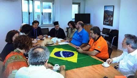 Missão Brasileira se reune com Embaixador do Brasil na Palestina