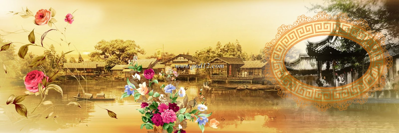 Photoshop Backgrounds: Wedding Album Design (12x36 PSD Files) 11