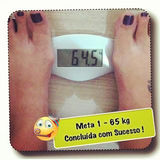 Meta 1 - 65kg - menos de 2 meses pra conseguir!