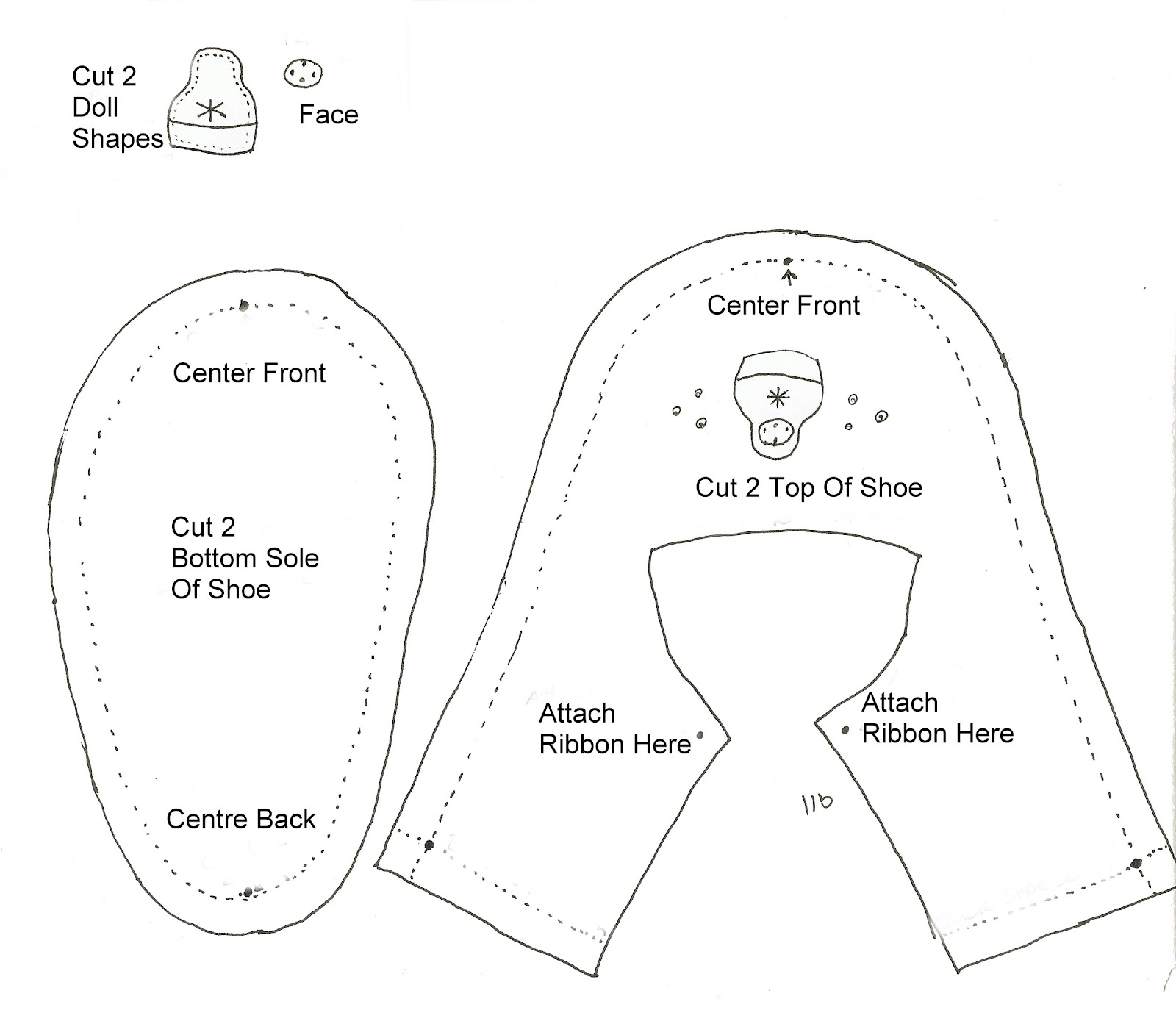 Baby Shoe Patterns Free Templates