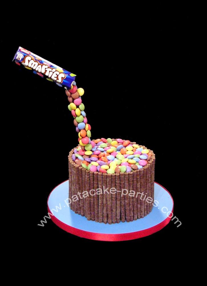 Pat A Cake Parties Gravity Defying Smarties Cake