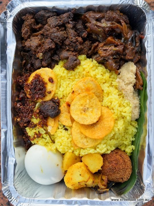And Heres The Lamb Lump Rice From Sri Lankan Food Bar In Homebush Its Also Rather Insane Goodness Department With Added Of Banana