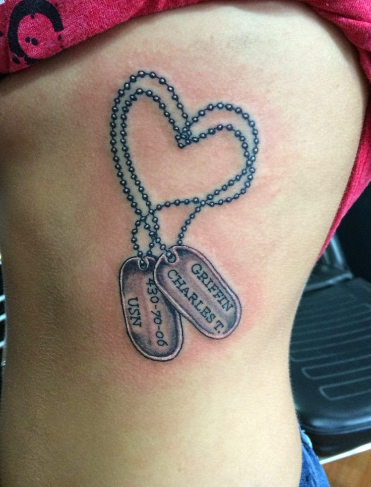 ♥ ♫ ♥ Dog tag  Army Tattoos ♥ ♫ ♥